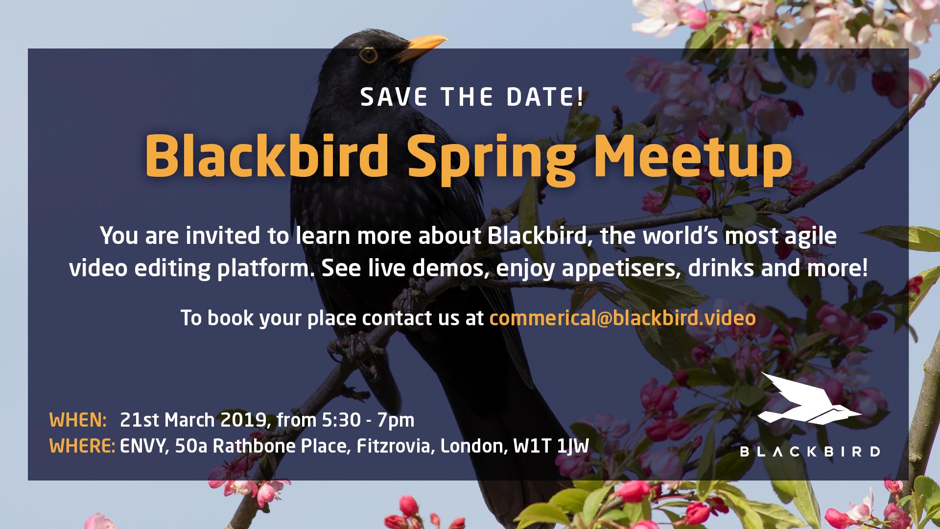 Blackbird Spring Meetup 2019