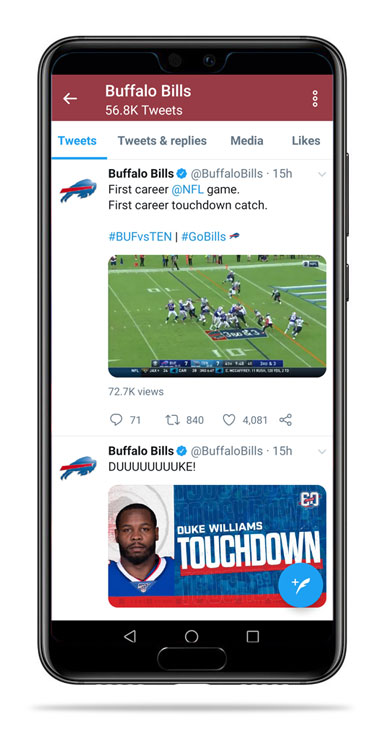 Buffalo Bills Twitter feed