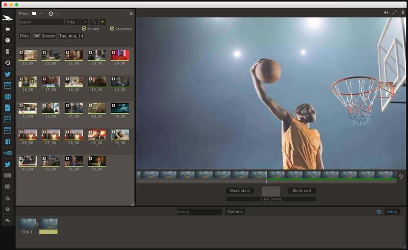 screenshot of Blackbird's Ascent cloud editing software.