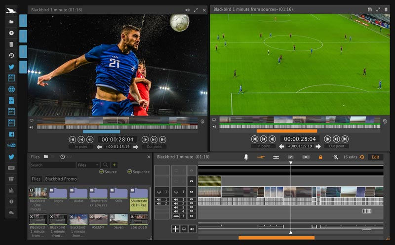 Screenshot of Blackbird editing tools package, Forte.